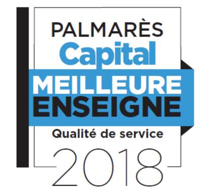 Label Meilleure Enseigne 2018 par CAPITAL