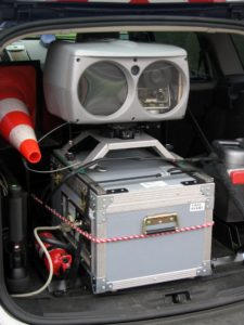 radar de contrôle de vitesse embarqué