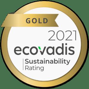Médaille d'or Ecovadis pour A+GLASS et son respect de l'environnement